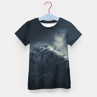 Miniature de image de Darkness and storm clouds over mountains Kid's t-shirt, Live Heroes
