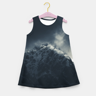 Miniature de image de Darkness and storm clouds over mountains Girl's summer dress, Live Heroes