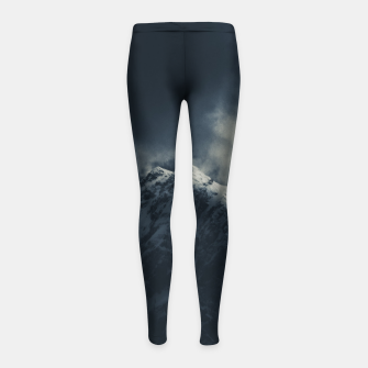 Miniature de image de Darkness and storm clouds over mountains Girl's leggings, Live Heroes