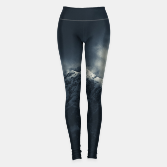 Miniature de image de Darkness and storm clouds over mountains Leggings, Live Heroes