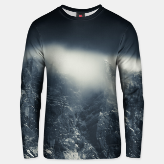 Miniature de image de Darkness and white clouds over the mountains Unisex sweater, Live Heroes