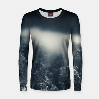 Miniature de image de Darkness and white clouds over the mountains Women sweater, Live Heroes