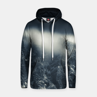 Miniature de image de Darkness and white clouds over the mountains Hoodie, Live Heroes