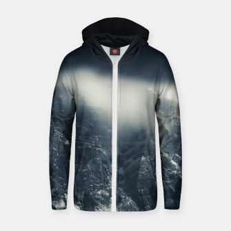 Miniature de image de Darkness and white clouds over the mountains Zip up hoodie, Live Heroes