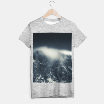 Miniature de image de Darkness and white clouds over the mountains T-shirt regular, Live Heroes