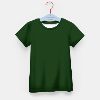 Thumbnail image of Christmas Spruce Tree Green Solid Color Coordinate Kid's t-shirt, Live Heroes