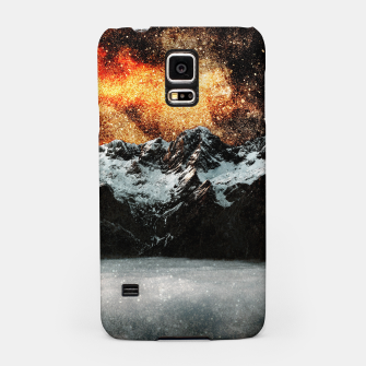Thumbnail image of Burning galaxy above majestic mountains Samsung Case, Live Heroes