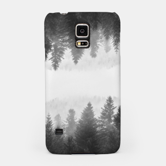 Thumbnail image of Black and white foggy mirrored forest Samsung Case, Live Heroes