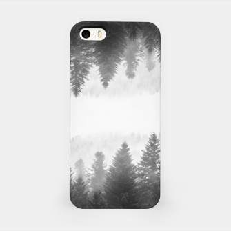 Thumbnail image of Black and white foggy mirrored forest iPhone Case, Live Heroes