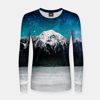Miniaturka Dreamy galaxy mountain above the clouds Women sweater, Live Heroes