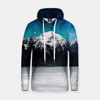 Miniaturka Dreamy galaxy mountain above the clouds Hoodie, Live Heroes