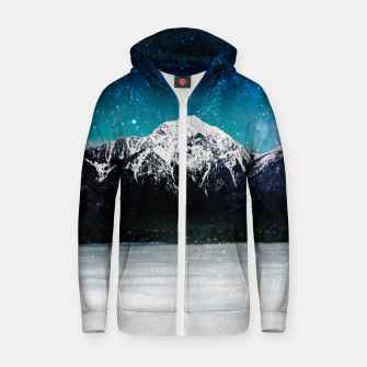 Miniaturka Dreamy galaxy mountain above the clouds Zip up hoodie, Live Heroes