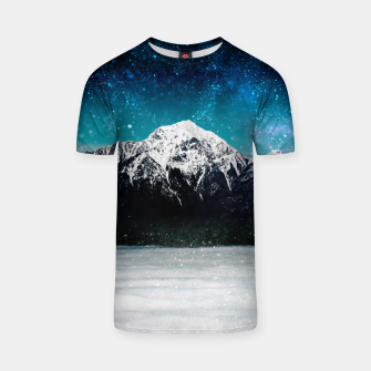 Miniaturka Dreamy galaxy mountain above the clouds T-shirt, Live Heroes