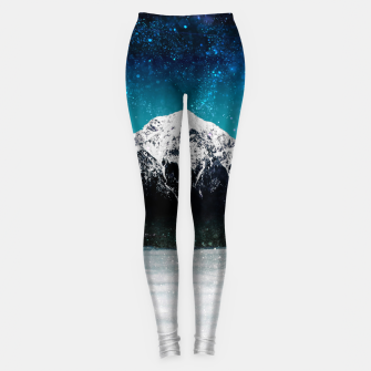Miniaturka Dreamy galaxy mountain above the clouds Leggings, Live Heroes