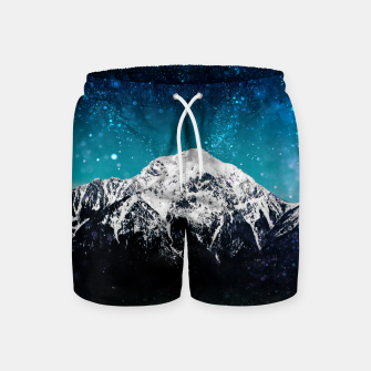 Miniaturka Dreamy galaxy mountain above the clouds Swim Shorts, Live Heroes