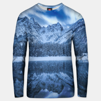 Miniature de image de Fantasy at mountain lake Unisex sweater, Live Heroes