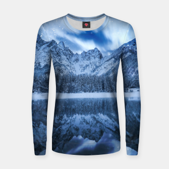Miniature de image de Fantasy at mountain lake Women sweater, Live Heroes