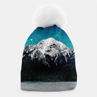 Miniaturka Dreamy galaxy mountain above the clouds Beanie, Live Heroes