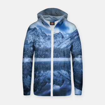 Miniature de image de Fantasy at mountain lake Zip up hoodie, Live Heroes