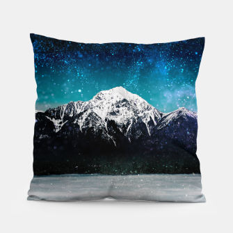 Miniaturka Dreamy galaxy mountain above the clouds Pillow, Live Heroes