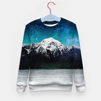 Miniaturka Dreamy galaxy mountain above the clouds Kid's sweater, Live Heroes