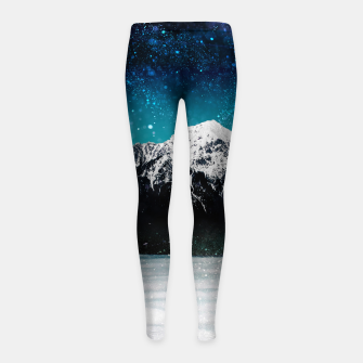 Miniaturka Dreamy galaxy mountain above the clouds Girl's leggings, Live Heroes