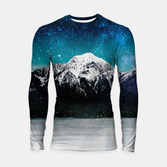 Miniaturka Dreamy galaxy mountain above the clouds Longsleeve rashguard , Live Heroes