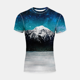 Miniaturka Dreamy galaxy mountain above the clouds Shortsleeve rashguard, Live Heroes