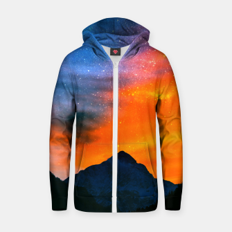 Miniature de image de Fantasy world at mountains Zip up hoodie, Live Heroes