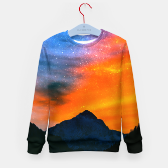 Miniature de image de Fantasy world at mountains Kid's sweater, Live Heroes