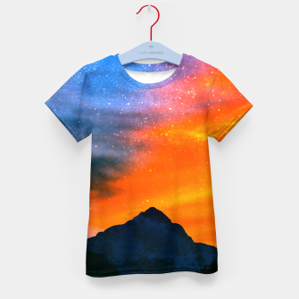 Thumbnail image of Fantasy world at mountains Kid's t-shirt, Live Heroes