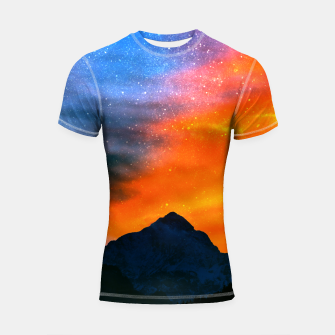 Miniature de image de Fantasy world at mountains Shortsleeve rashguard, Live Heroes