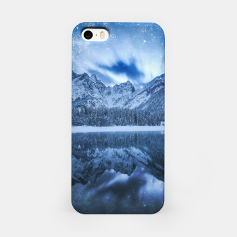Miniature de image de Fantasy at mountain lake iPhone Case, Live Heroes