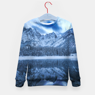 Miniature de image de Fantasy at mountain lake Kid's sweater, Live Heroes