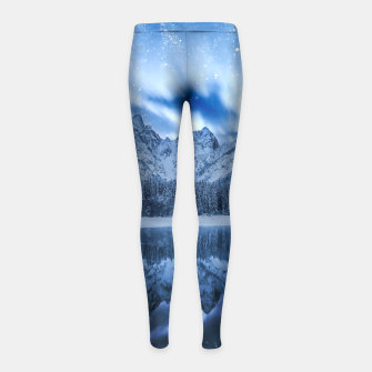 Miniature de image de Fantasy at mountain lake Girl's leggings, Live Heroes