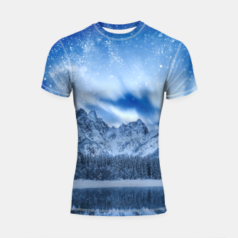 Miniature de image de Fantasy at mountain lake Shortsleeve rashguard, Live Heroes