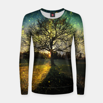 Miniaturka Magical fireflies dreamy landscape Women sweater, Live Heroes