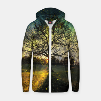 Miniaturka Magical fireflies dreamy landscape Zip up hoodie, Live Heroes