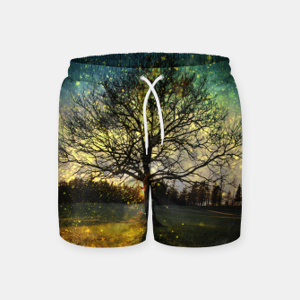 Miniaturka Magical fireflies dreamy landscape Swim Shorts, Live Heroes