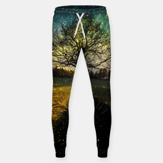 Miniaturka Magical fireflies dreamy landscape Sweatpants, Live Heroes