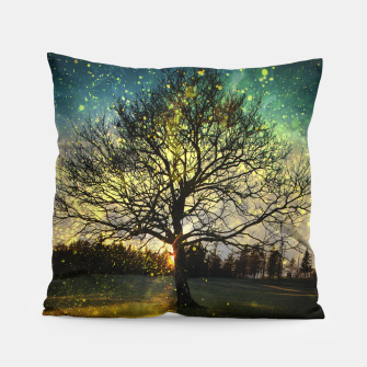 Miniaturka Magical fireflies dreamy landscape Pillow, Live Heroes