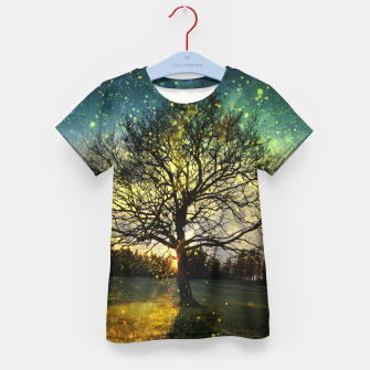 Thumbnail image of Magical fireflies dreamy landscape Kid's t-shirt, Live Heroes