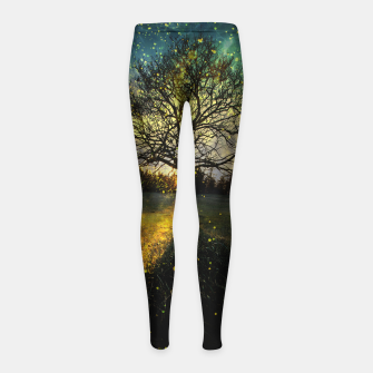 Miniaturka Magical fireflies dreamy landscape Girl's leggings, Live Heroes