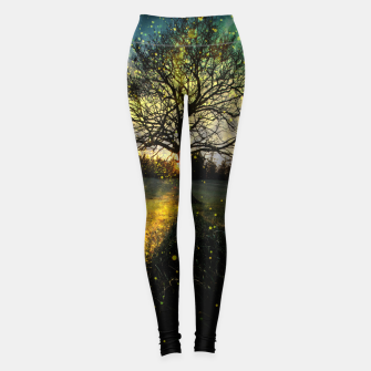 Miniaturka Magical fireflies dreamy landscape Leggings, Live Heroes