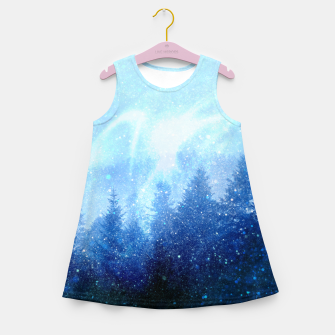 Miniature de image de The forest awakens from the mist Girl's summer dress, Live Heroes