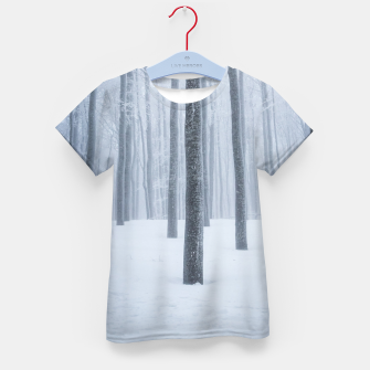 Thumbnail image of Foggy frozen winter forest Kid's t-shirt, Live Heroes