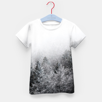 Thumbnail image of Fog over frozen forest Kid's t-shirt, Live Heroes