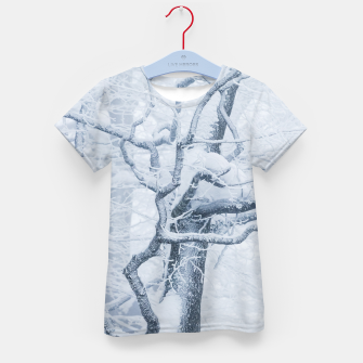 Thumbnail image of Frozen snowy tree Kid's t-shirt, Live Heroes