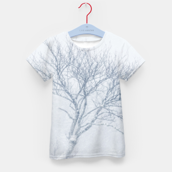 Thumbnail image of Lonely tree during snow storm in winter Kid's t-shirt, Live Heroes