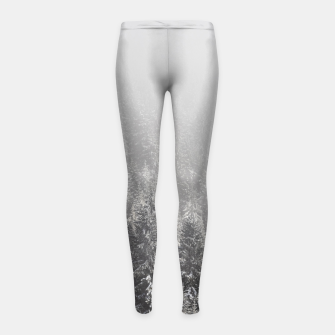 Miniature de image de Snowy spruce forest wrapped in fog Girl's leggings, Live Heroes